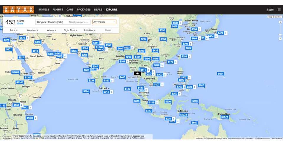 How To Book Cheap Flights Like A Pro - Breathing Travel Kayak Cheap Flights Map on kayak flights search, kayak flights europe, kayak air flights, kayak airfares flights, kayak tickets flights,