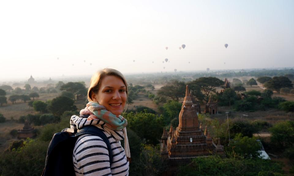 sunrise at Bagan temples