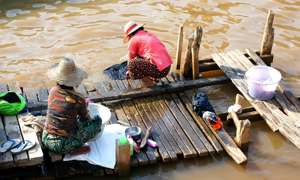 washing in Myanmar