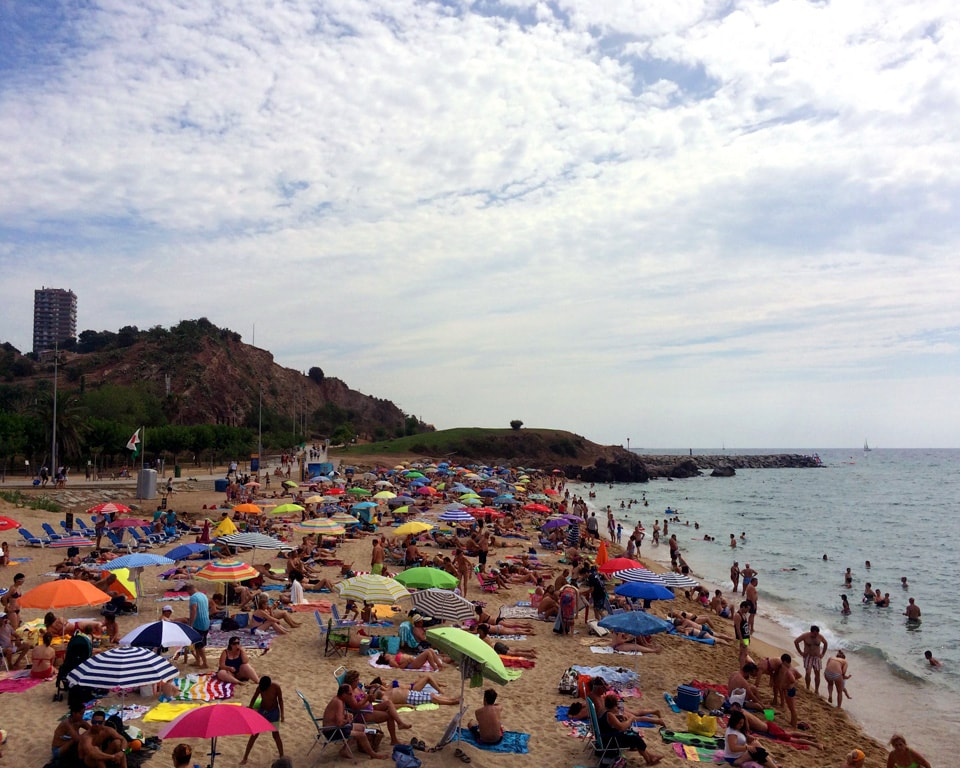 Montgat Beach Outside of Barcelona