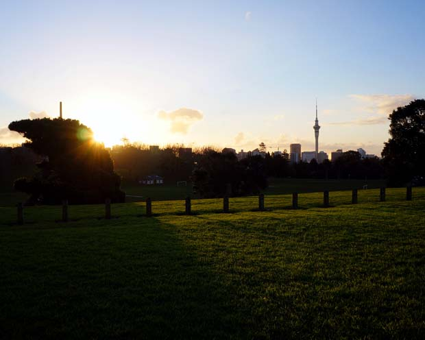 Auckland Domain Sunset