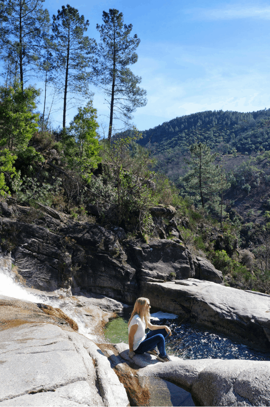 Tahitit falls in Gerês National Park
