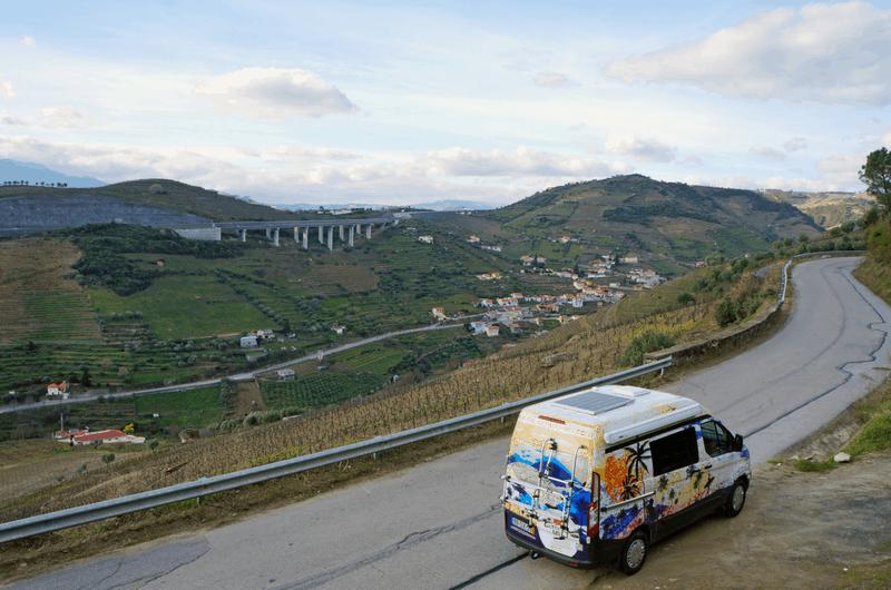 760e37826b curvy roads in Douro Valley Portugal. road trip through Portugal