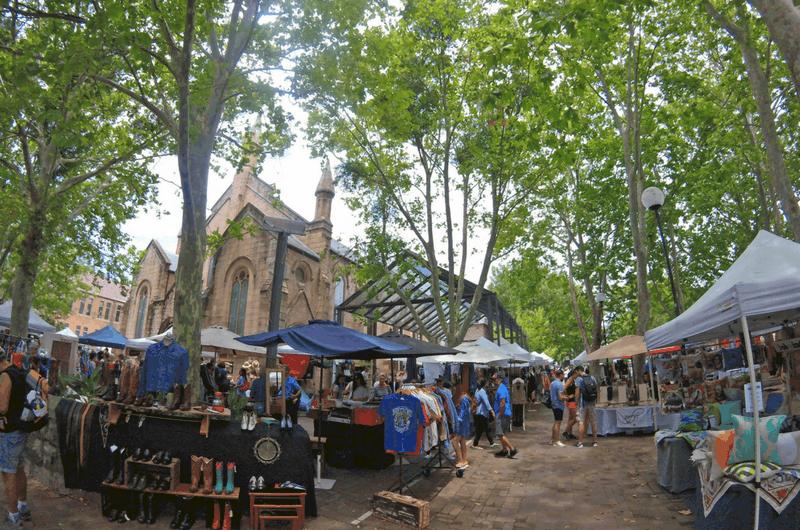 exploring the Paddington Markets in Sydney