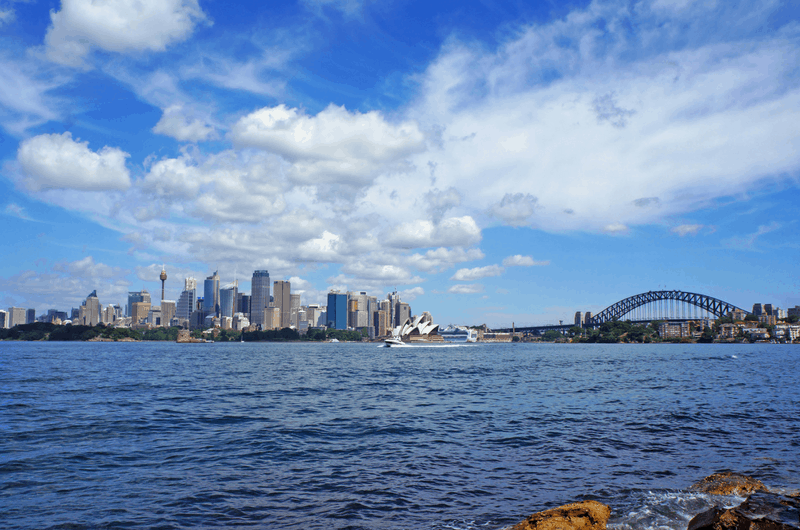 fantastic view over Sydney at Robertson Point