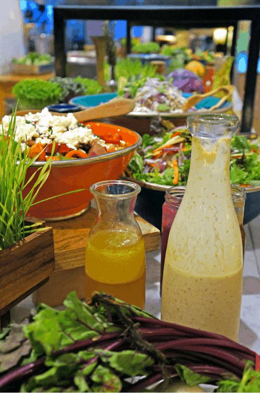 salad buffet at Gold Coast Progressive Dinner