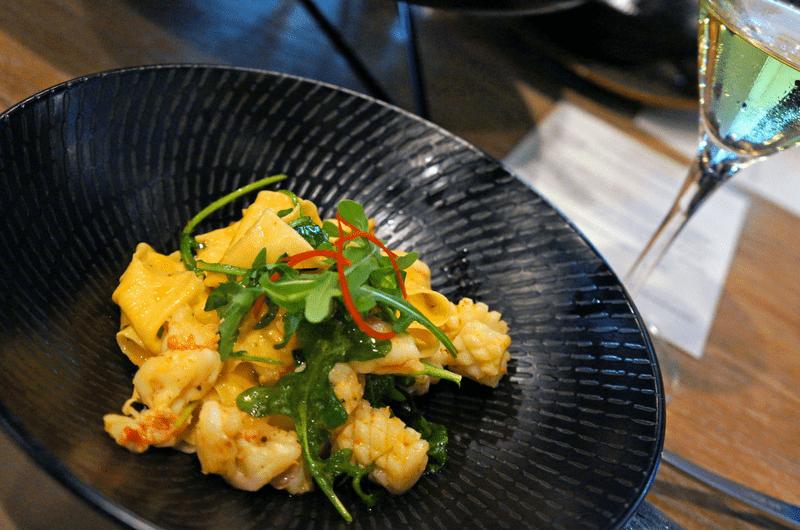 seafood pasta at Gold Coast Progessive Dinner