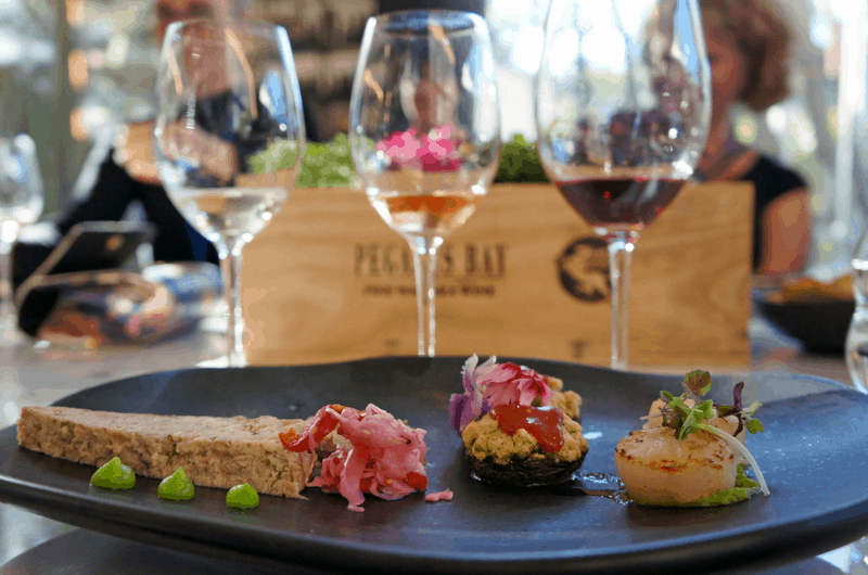 enjoying delicious wine and canapés with Gold Coast Food and Wine Tours