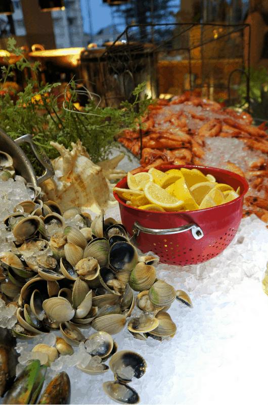 yummy seafood at Gold Coast Progressive Dinner