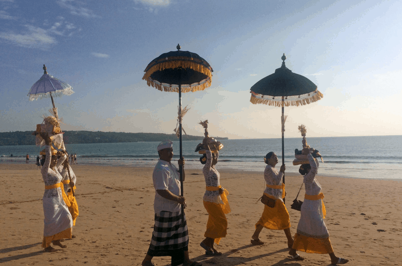 Balinese culure at the beach