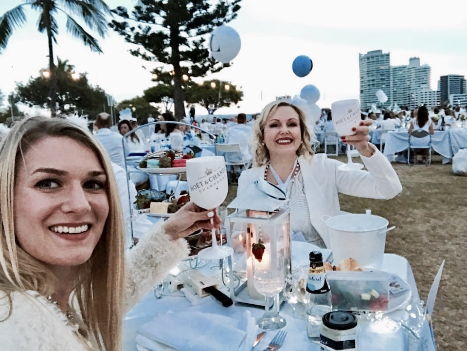 Diner en Blanc at the Gold Coast Australia