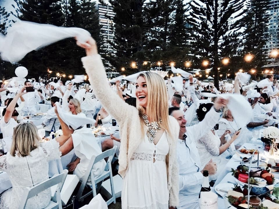 best times at Diner en Blanc Gold Coast
