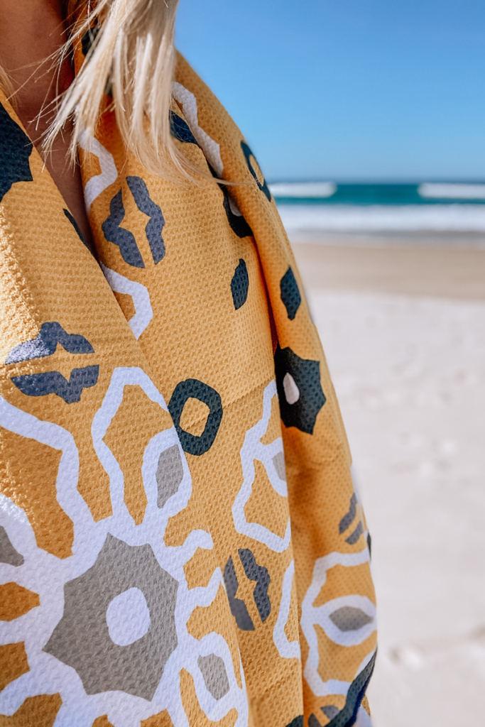sand free waffle beach towel