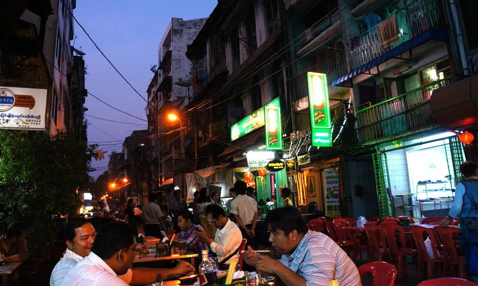 chinatown Yangon Myanmar