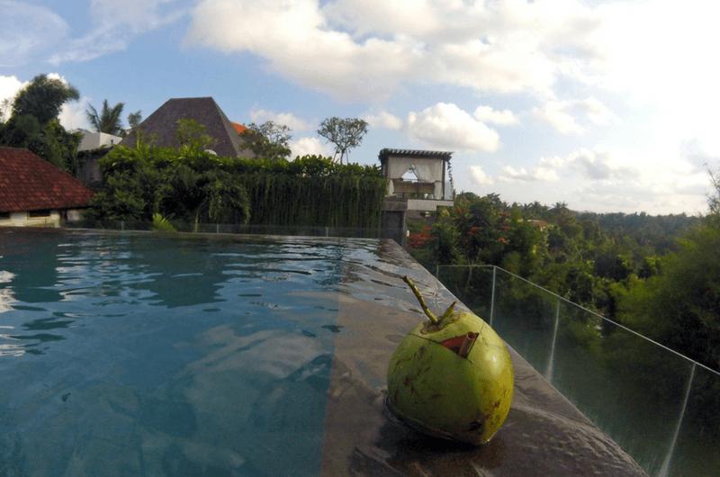 infinity pool at Bisma Eight Ubud