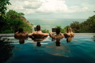 WiFi Tribe Working at the pool
