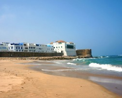 white-washed walls of Asilah Morocco