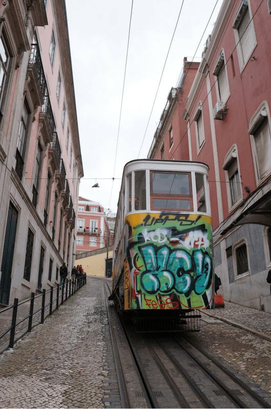 Tram E28 Lisbon Portugal