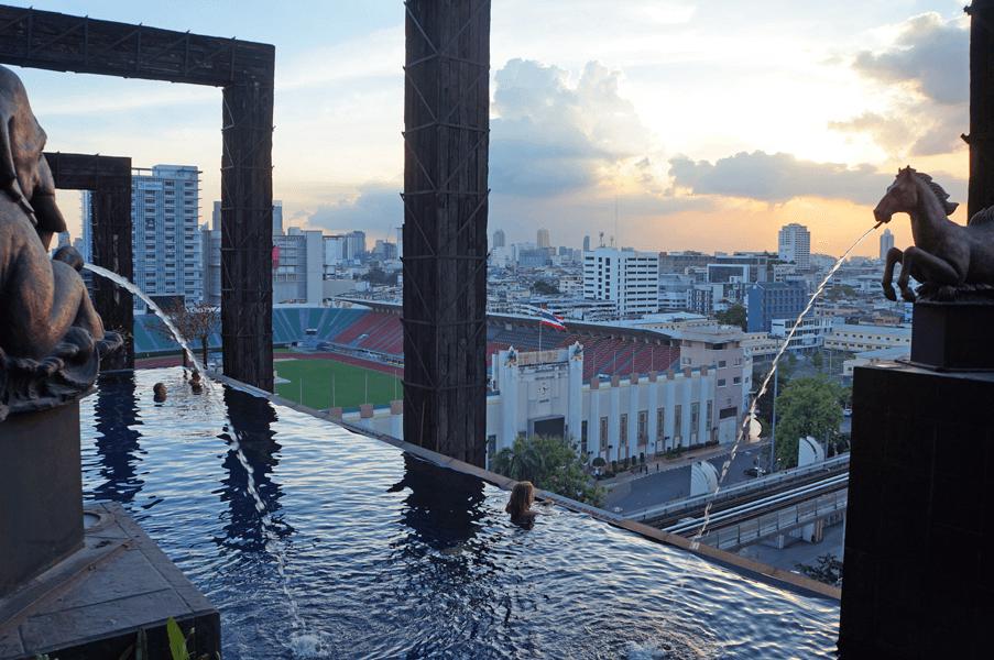 Bangkok rooftop hotel pools