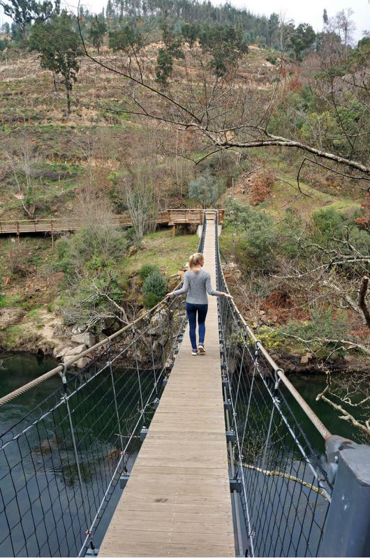 suspension bridge Paiva Walkways in Portugal